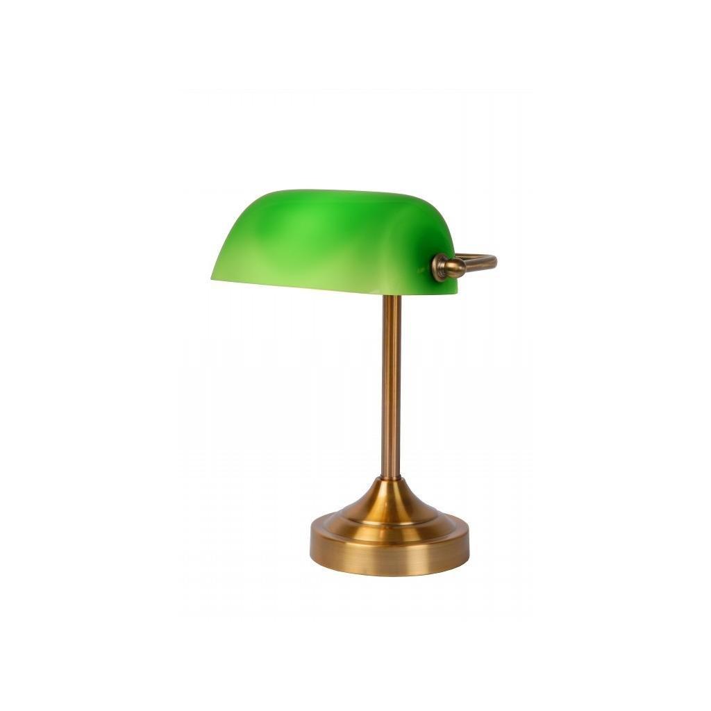 Lucide // Banker Lamp E Wcm Hcm Glass Green/ Bronze eulux.sk