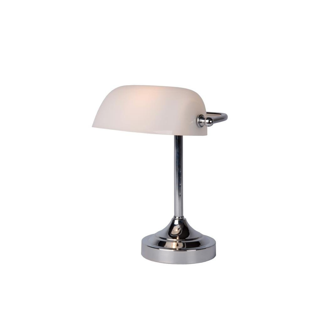 Lucide // Banker Lamp E Wcm Hcm Glass White /Chrome eulux.sk