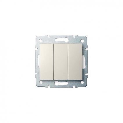 Kanlux LOGI Trojitý vypínač AX - V~krémový eulux.sk
