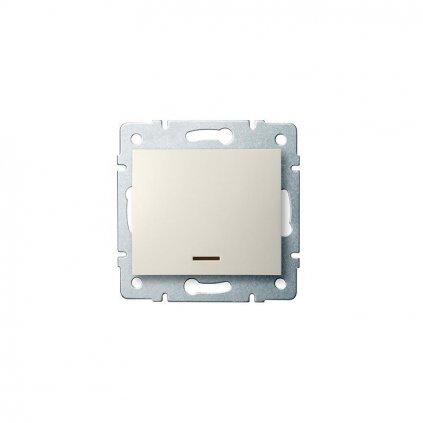 Kanlux LOGI Jednopólový vypínač s LED AX - V~krémový eulux.sk