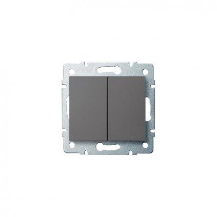 Kanlux LOGI Združený lustrový vypínač AX - V~ grafit eulux.sk