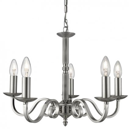Searchlight -SS SCROLL ARMS DETAIL SATIN SILVER Luster eulux.sk