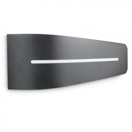 Massive-Philips // Breeze wall lantern antracit xW nástenné svietidlo eulux.sk