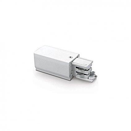 Schrack Technik LID -fázový napájací adaptér pre lištu PE vľavo biely eulux.sk