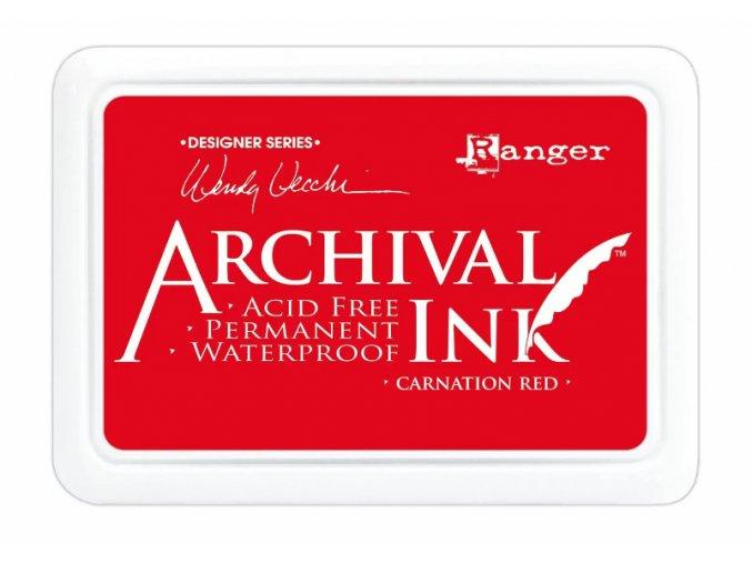 Ranger Archival ink pad Carnation red
