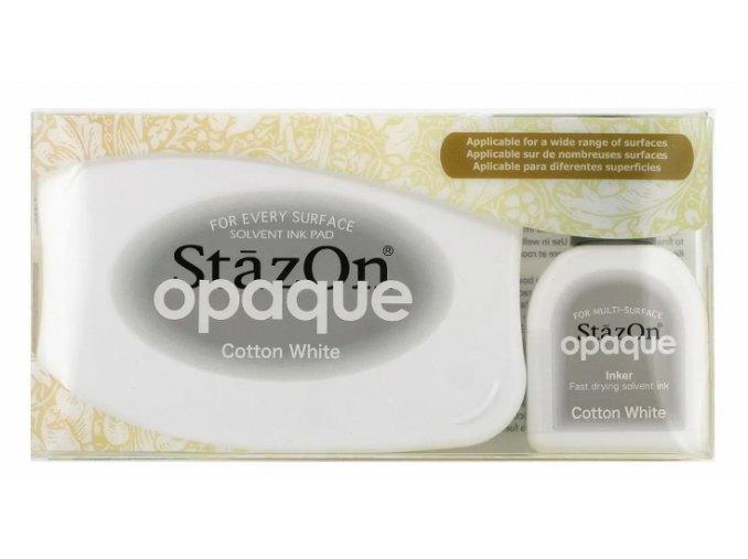 Tsukineko StazOn metallic ink pad Cotton White 01