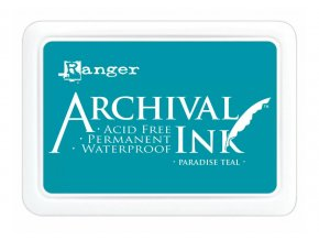 Ranger Archival ink pad Paradise teal