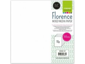 Florence paper mixed media 12x12 240g x10 white 01