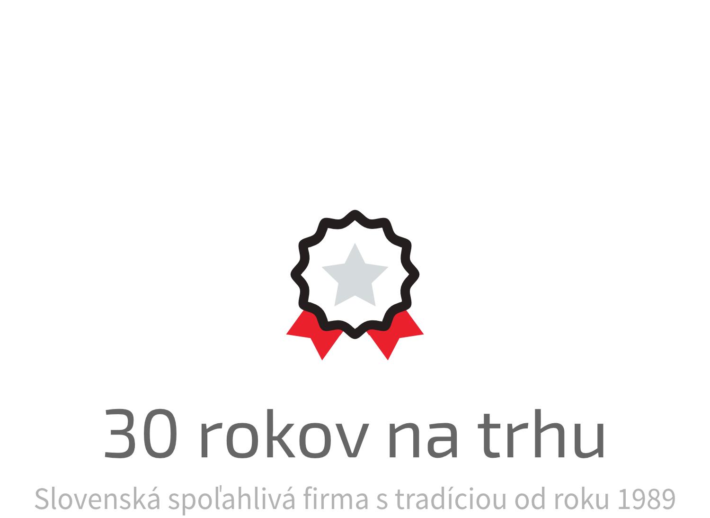 Slovenská spoľahlivá firma s tradíciou od roku 1989