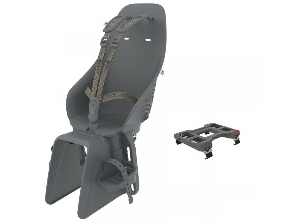 [213860] Urban Iki Zadná sedačka na bicykel s adaptérom na nosič (Bincho Čierna Bincho Čierna)