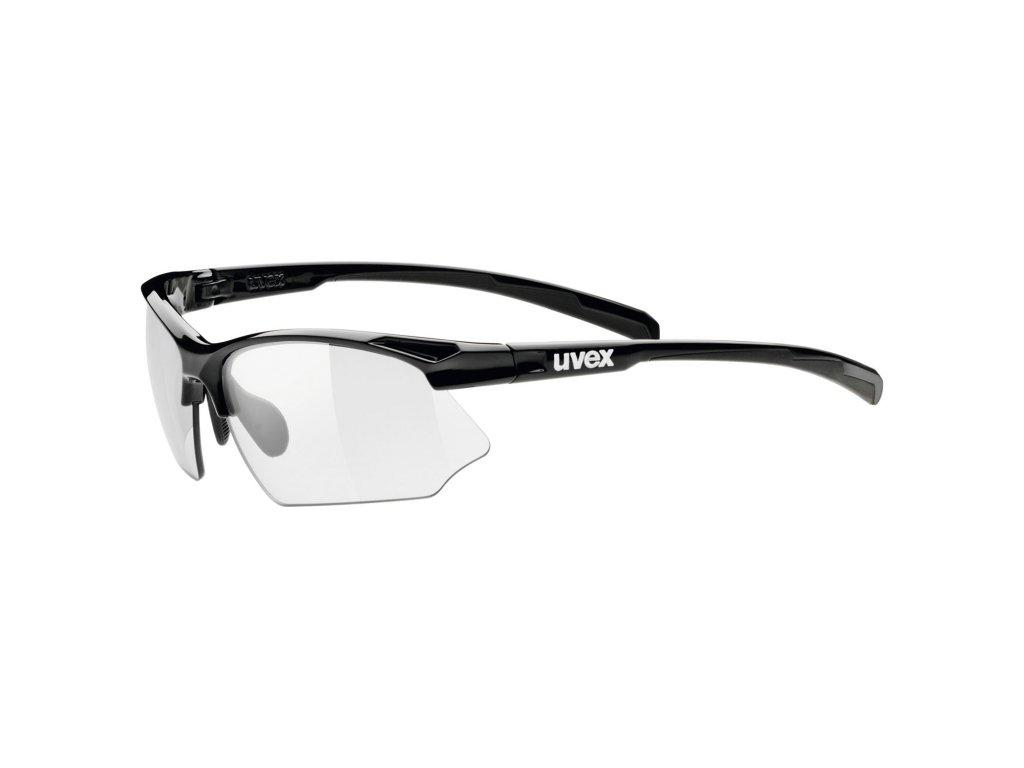 UVEX Sportstyle 802 V Black  + Originálne ochranné púzdro a čistiaca handrička ako súčasť balenia!