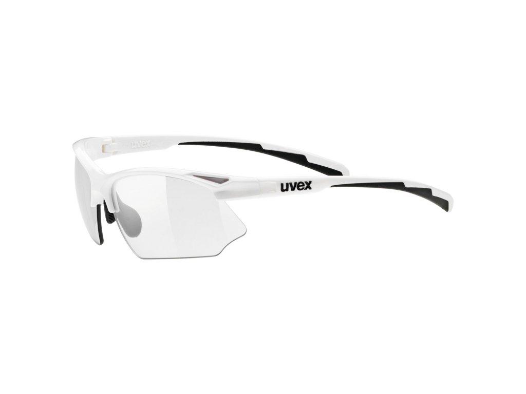UVEX Sportstyle 802 V White  + Originálne ochranné púzdro a čistiaca handrička ako súčasť balenia!