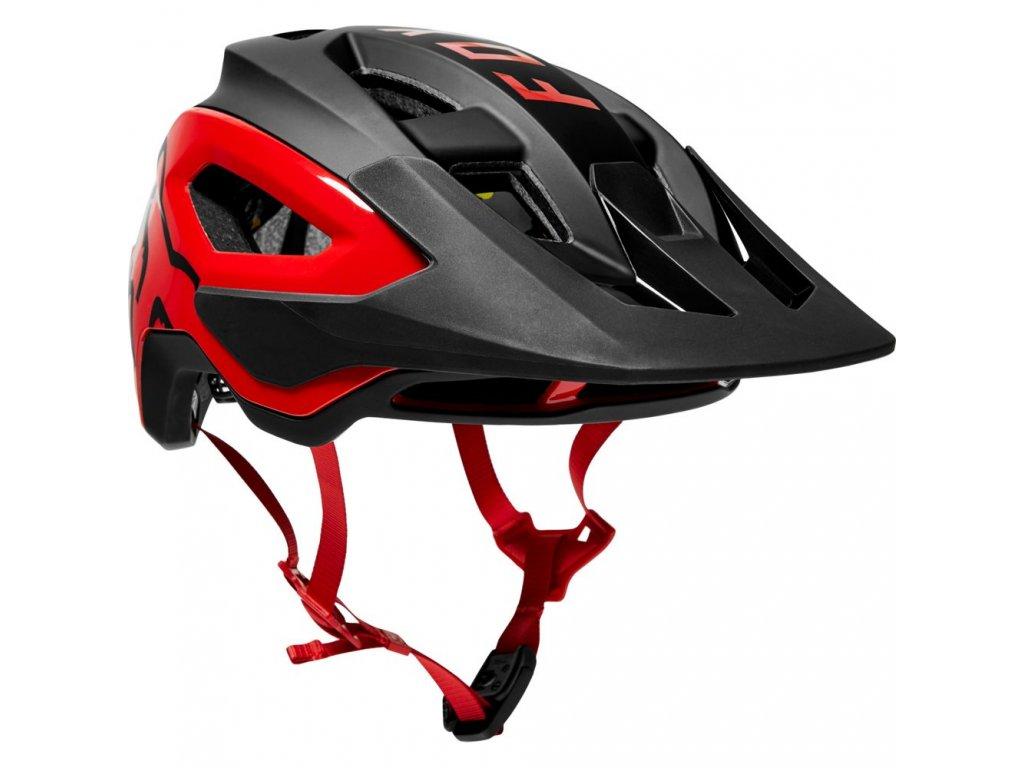 FOX Speedframe Pro MIPS Helmet 2021 Black/Red
