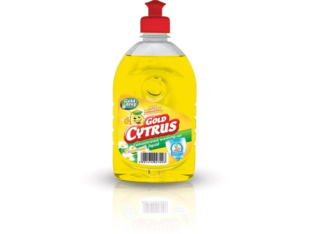 GOLD CYTRUS harmanček prostriedok na umývanie riadu s glycerínom 500ml