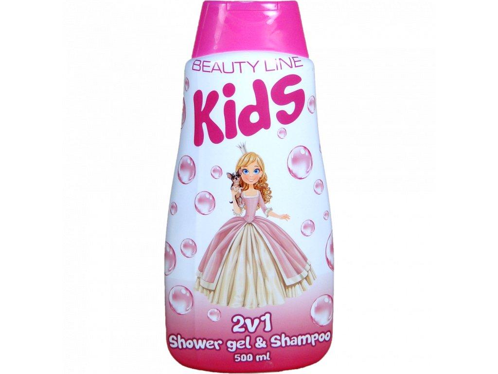 Beauty Line Princess 2v1 sprchový gél + šampón na vlasy 500ml