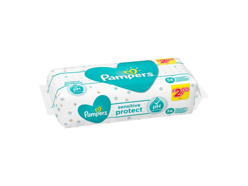 Pampers Sensitive Protect vlhčené utierky 56ks