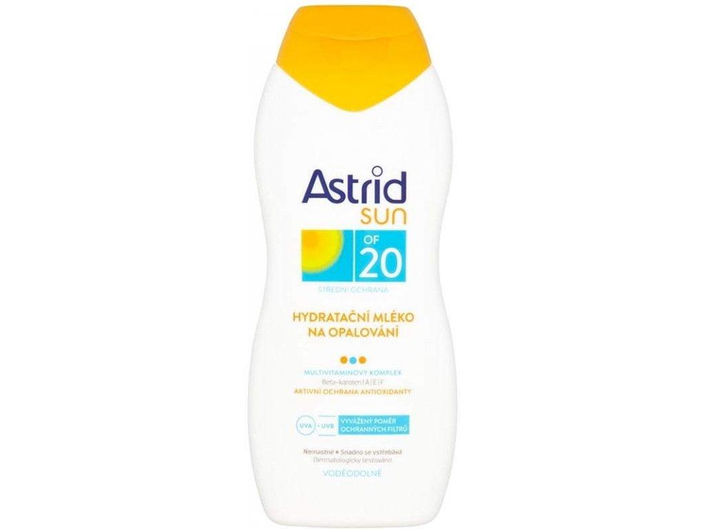 ASTRID SUN Hydratačné mlieko na opaľovanie 200ml OF20