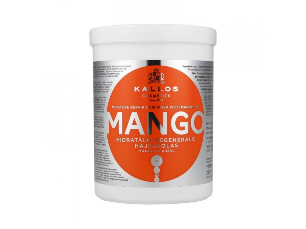 kallos kjmn mango moisture repair hair mask 1000ml