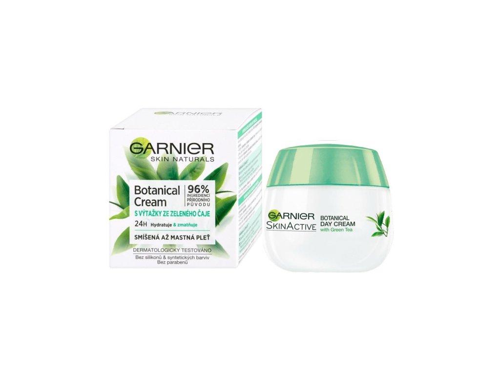 GARNIER Skin Naturals Botanical Green Tea, hydratačný krém s výťažkami zo zeleného čaju pre citlivú pleť 50ml