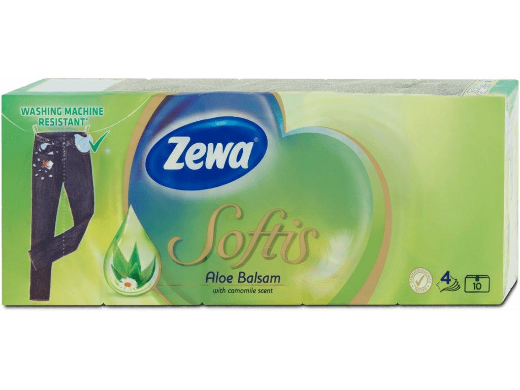 Zewa Aloe Balsam papierové hygienické vreckovky 10 x 9 ks