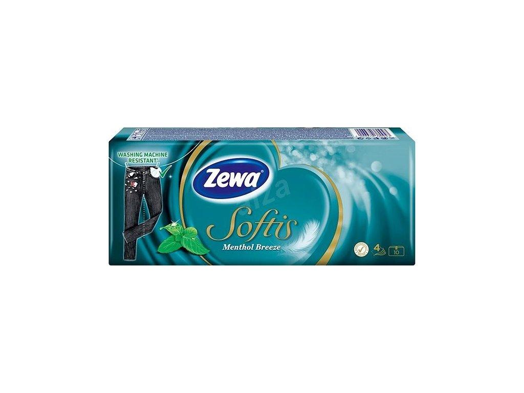 ZEWA Softis Menthol Breeze papierové hygienické vreckovky 10 x 9 ks