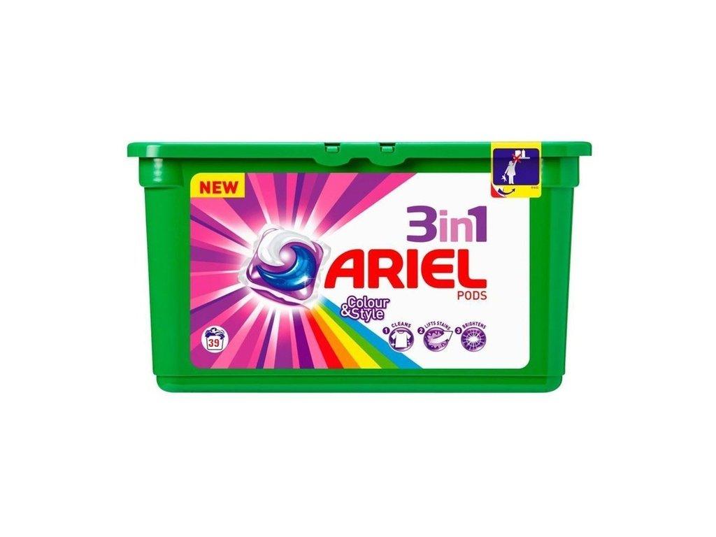 Ariel 3in1 Color & Style gélové kapsule 39ks