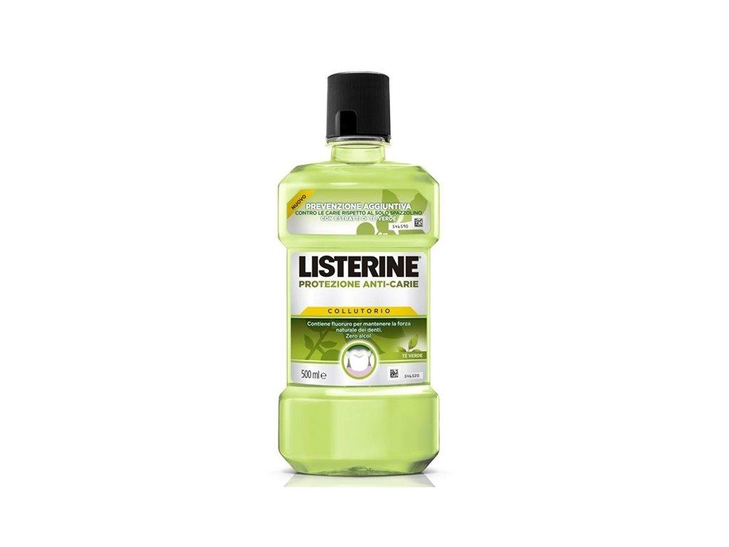 Listerine Anti Caries Zero Alcohol Zelený čaj (Té Verde) ústna voda 500ml