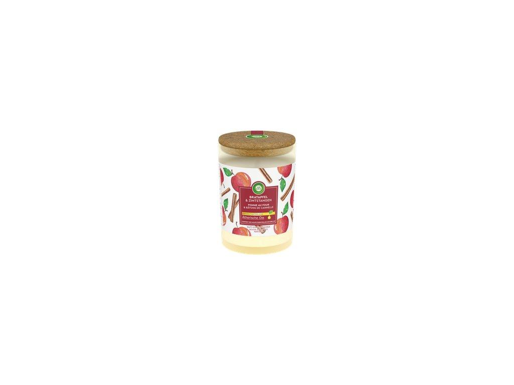 Air Wick Essential Oils Jablkový Sad & Cejlónska škorica vonná sviečka 185g