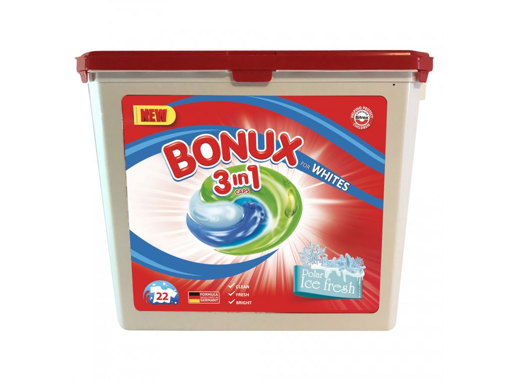 Bonux Polar Ice Fresh gélové kapsule 22ks