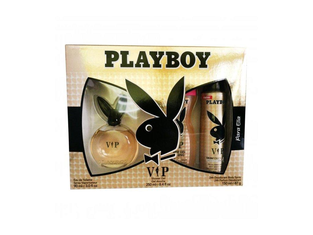 playboy vip eau de toilette 90ml shower gel 250ml body spray 150ml gift set p48226 16076 medium