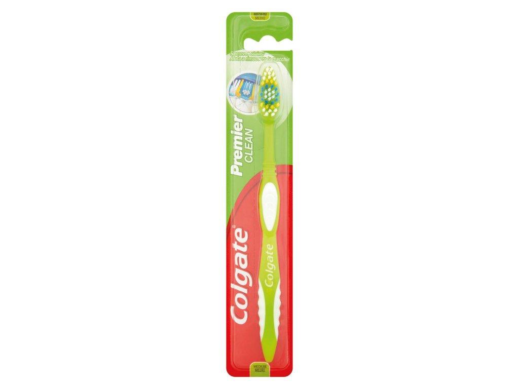 Colgate Premier clean zubná kefka Medium 1 ks