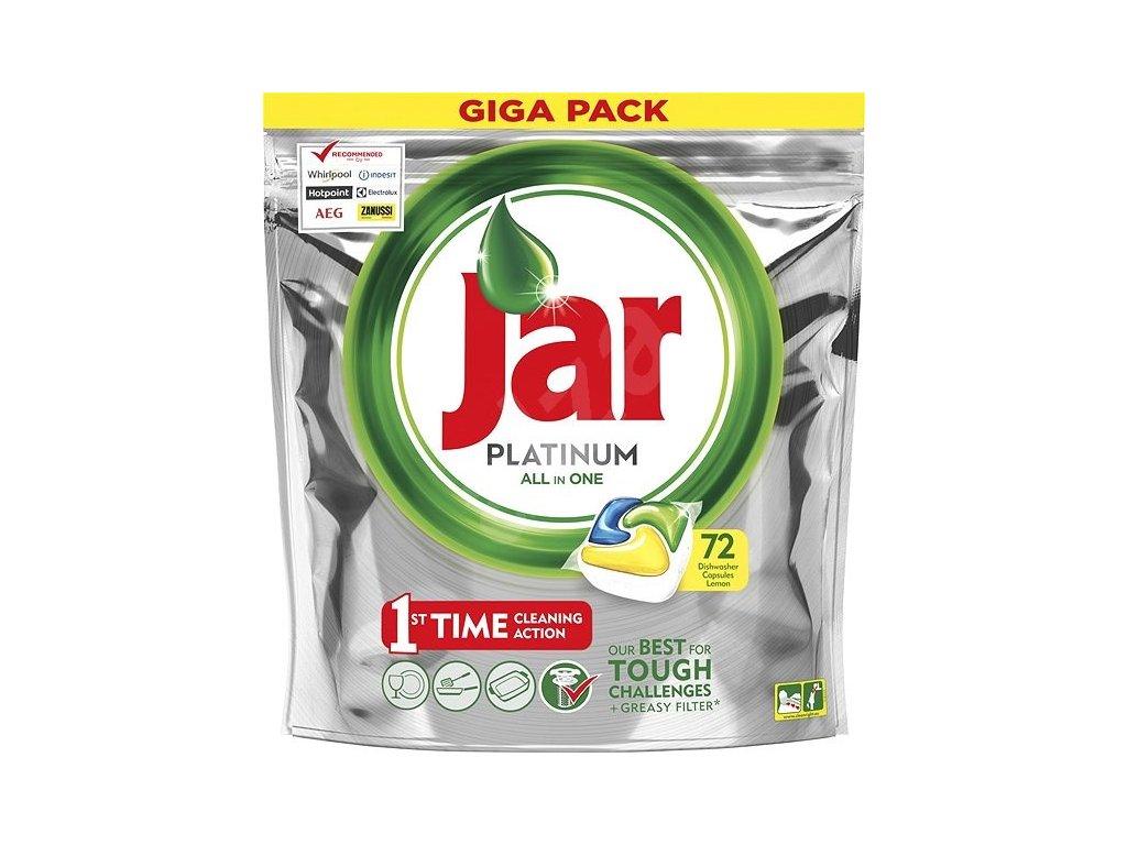 Jar Platinum All in One Lemon kapsule do umývačky riadu 72ks
