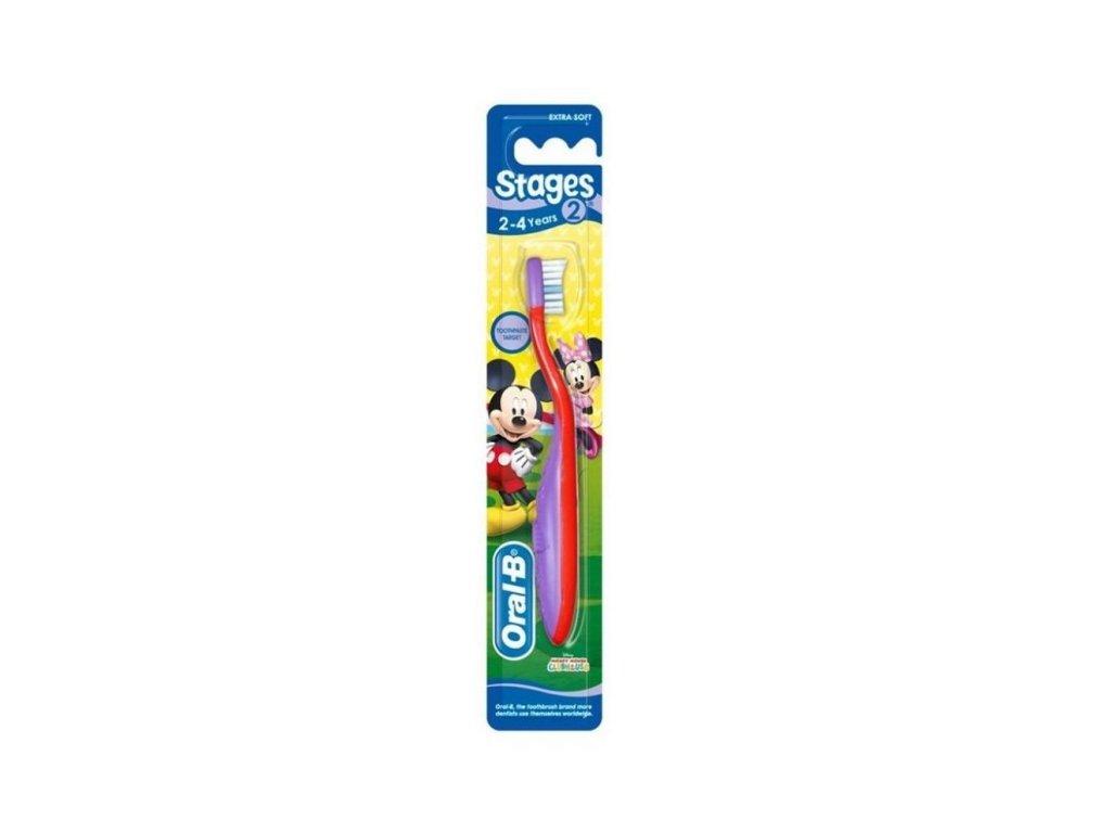 Oral B Mickey & Minnie zubná kefka 2 4rok Extra soft 1 kus