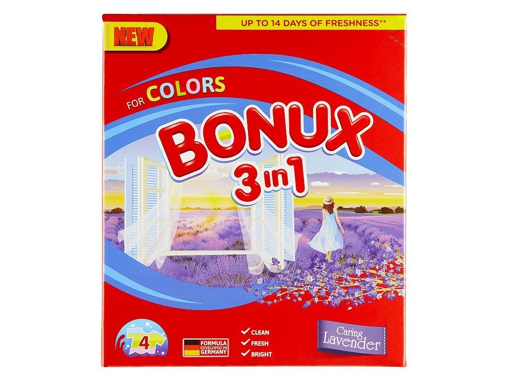Bonux Color Caring Levander prací prášok 4PD 300g