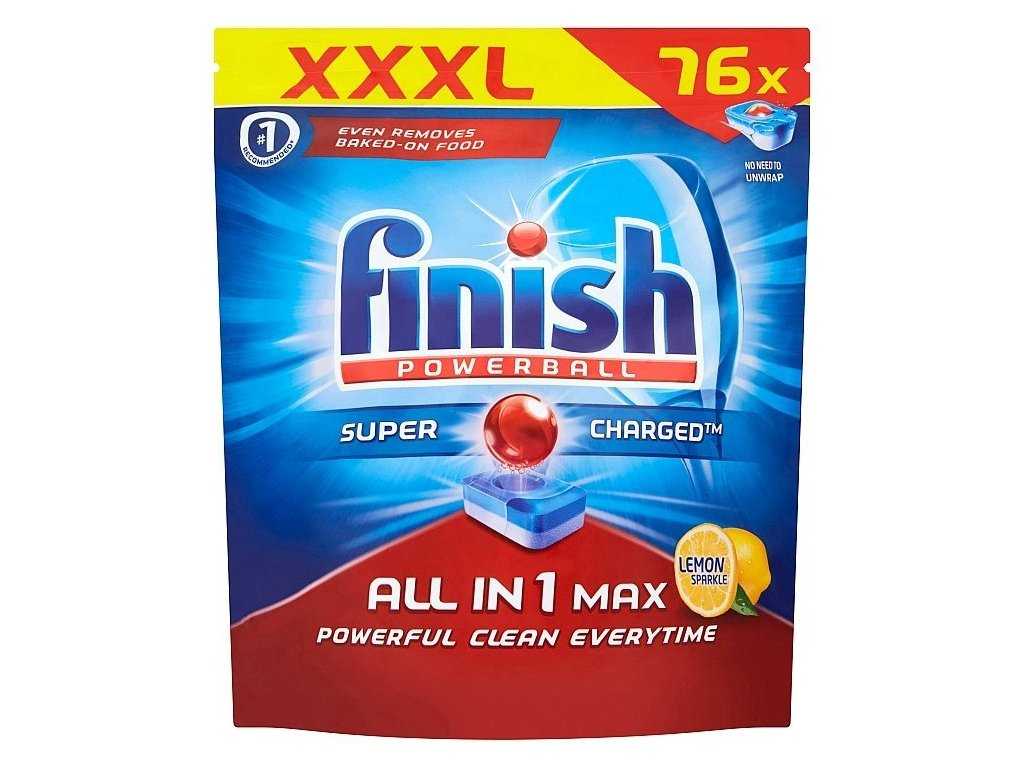 Finish Powerball All in One Max Lemon tablety do umývačky riadu 76ks
