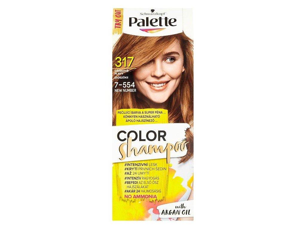 PALETTE Color Shampoo 7 554 Orieškovoplavý
