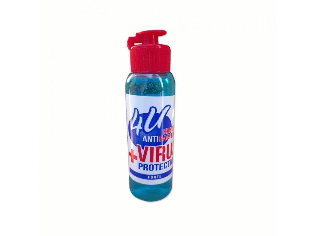 4U +VIRUS gél na ruky s antibakteriálnym účinkom 100ml
