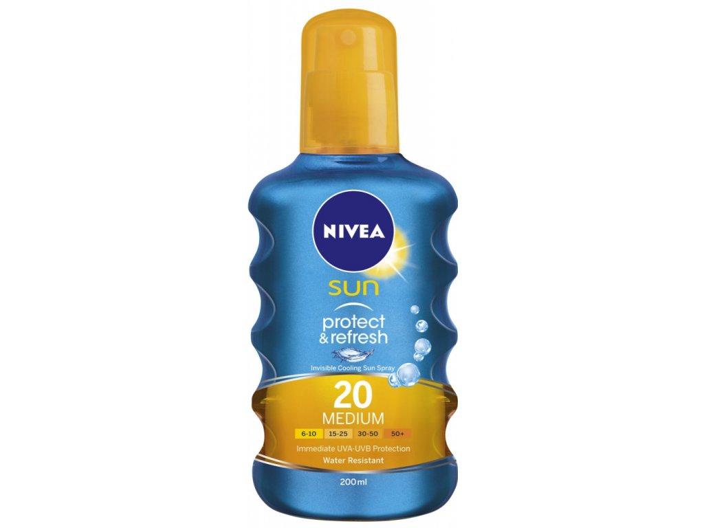 Nivea Sun Protect&Refresh olej na opaľovanie SPF20 200ml