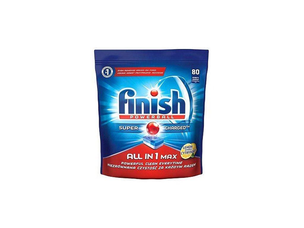Finish Powerball All in One Max tablety do umývačky riadu s citrónovou vôňou 80ks