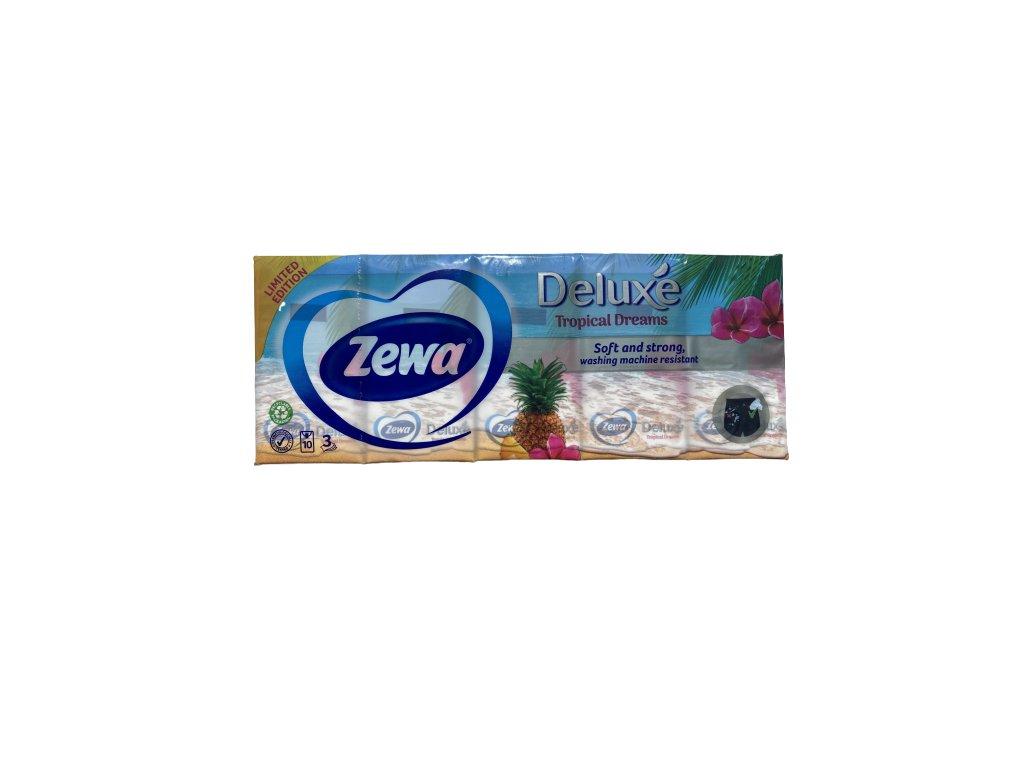 Zewa Limited edition Tropical Dreams papierové hygienické vreckovky 10 x 9 ks