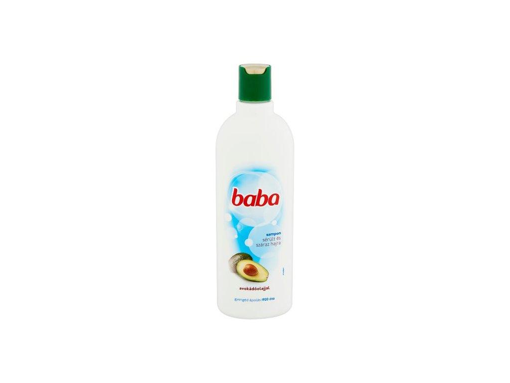 Baba šampón pre poškodené a suché vlasy s avokádovým olejom 400 ml