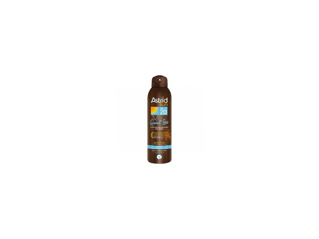 Astrid Sun Coconut Love OF20 suchý olej na opaľovanie 150 ml