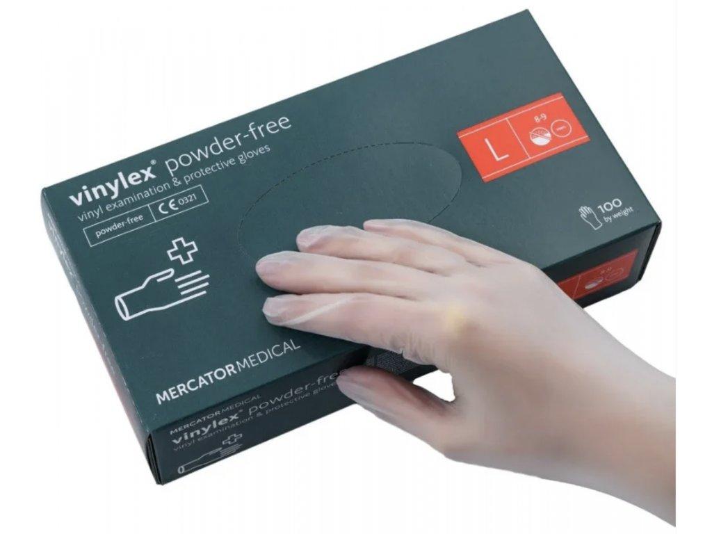 Vinylex jednorázové vinylové rukavice bez púdru 100ks L