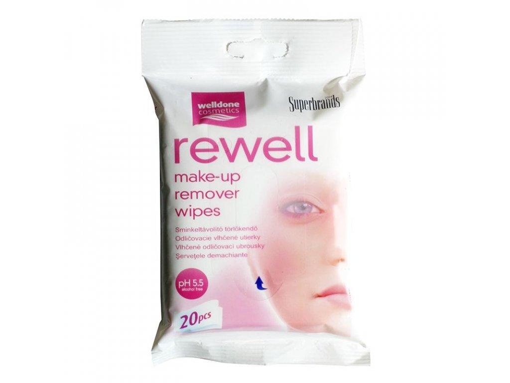 Rewell odličovacie vlhčené utierky 20 ks
