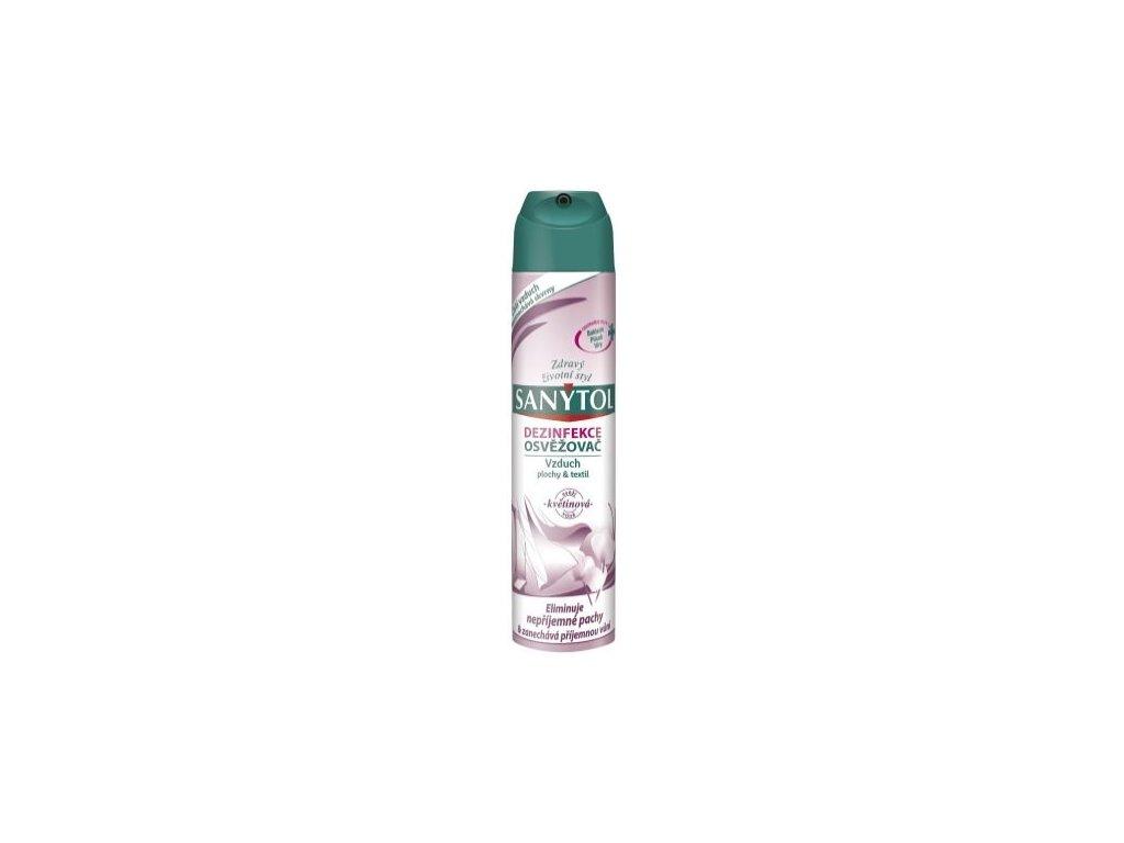 Sanytol dezinfekčný osviežovač vzduchu, povrchov a textílií kvetinová vôňa 300ml