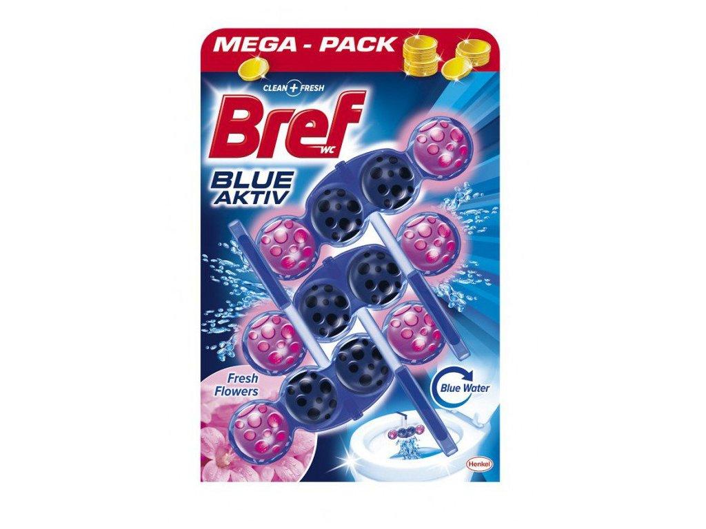 Bref Blue Aktiv Fresh Flowers WC blok 3x50g