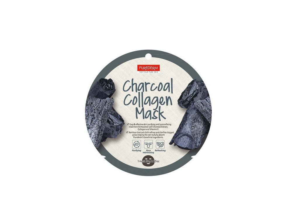 purederm charcoal collagen mask 454 p
