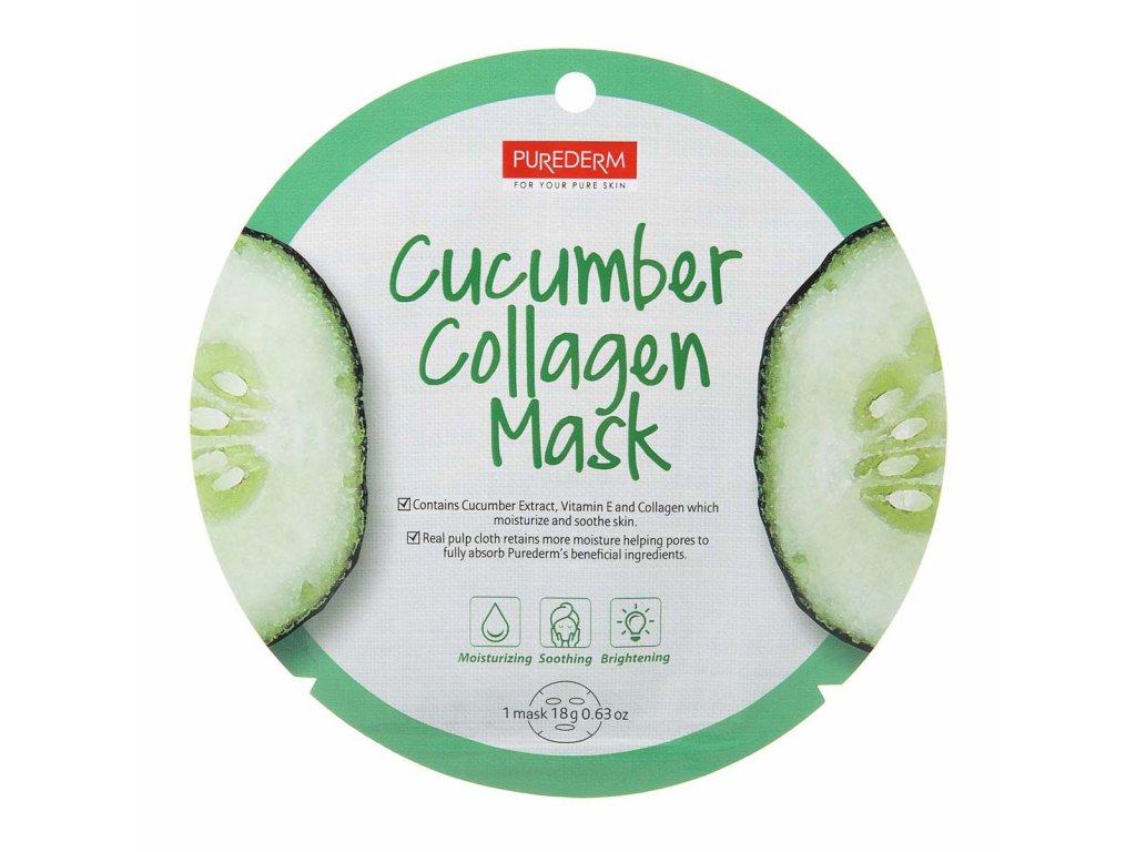 Purederm Collagen maska na tvár s uhorkou 1ks