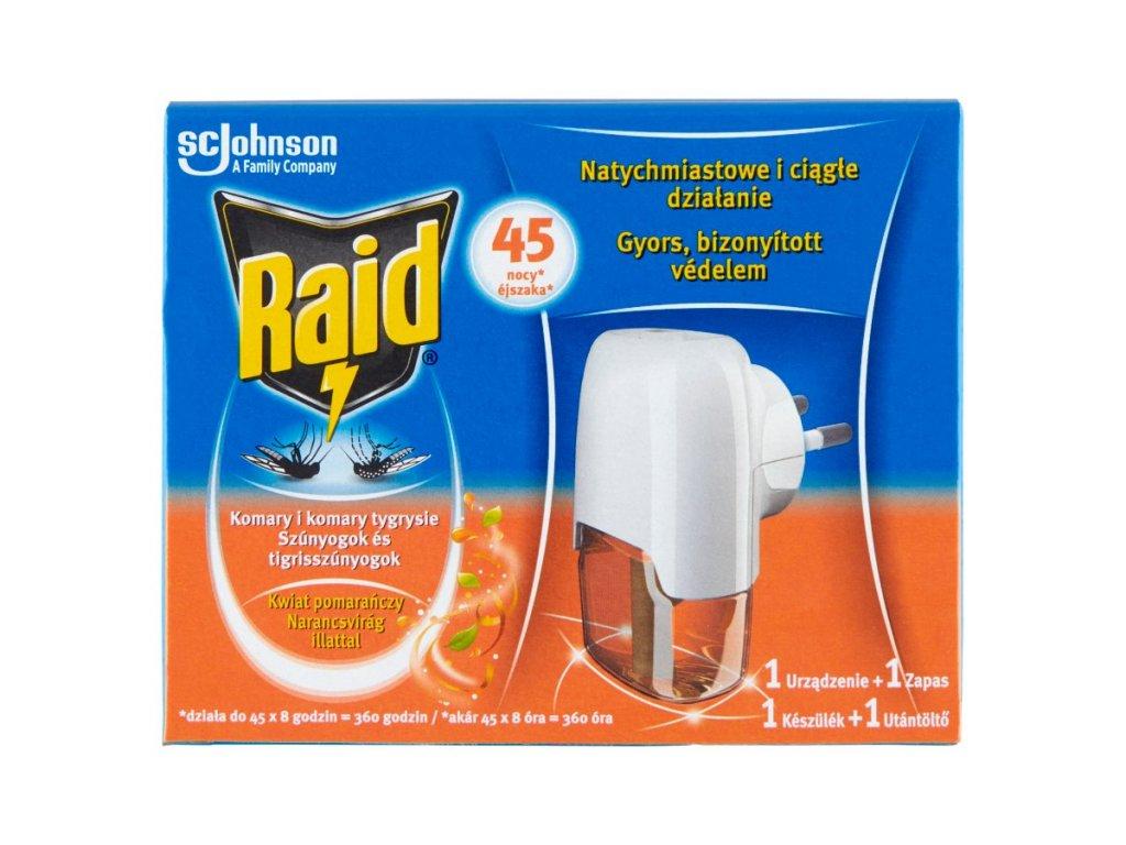 Raid Pomarančový kvet elektrický odparovač s tekutou náplňou 27ml