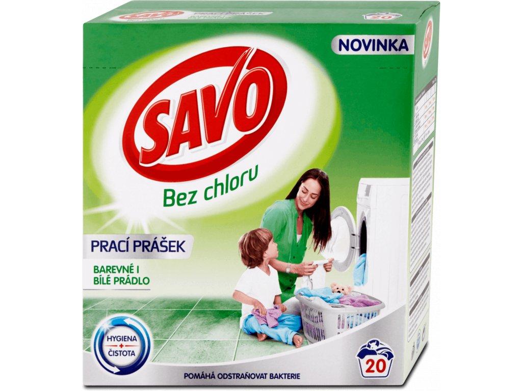 Savo Universal prací prášok na biele a farebné prádlo 1,4kg 20PD